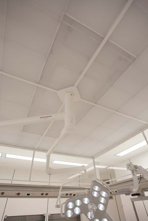 TAV-Decke / laminar air flow ceiling Marchhart Luftfiltertechnik air filter technology